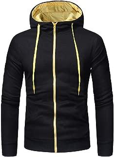 Mens' Personality Long Sleeve Zipper Hoodie Hooded Sweatshirt Tops Jacket Coat Outwear with Pocket
