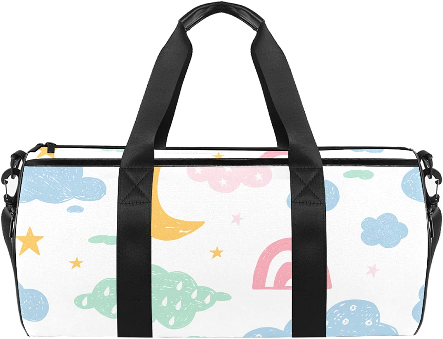Sport Challenge the lowest price of Japan Duffel Bag Moon stars Be super welcome Travel Gym Weeke Kids clouds