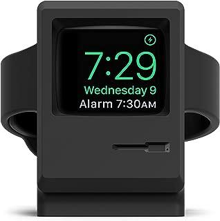 elago Upgrade W3 Stand (Black) for Apple Watch Series 5, 4, 3, 2, 1, 44mm, 42mm, 40mm, 38mm – Old School Design - Original Design Awards [Patent Pending], Nightstand Mode