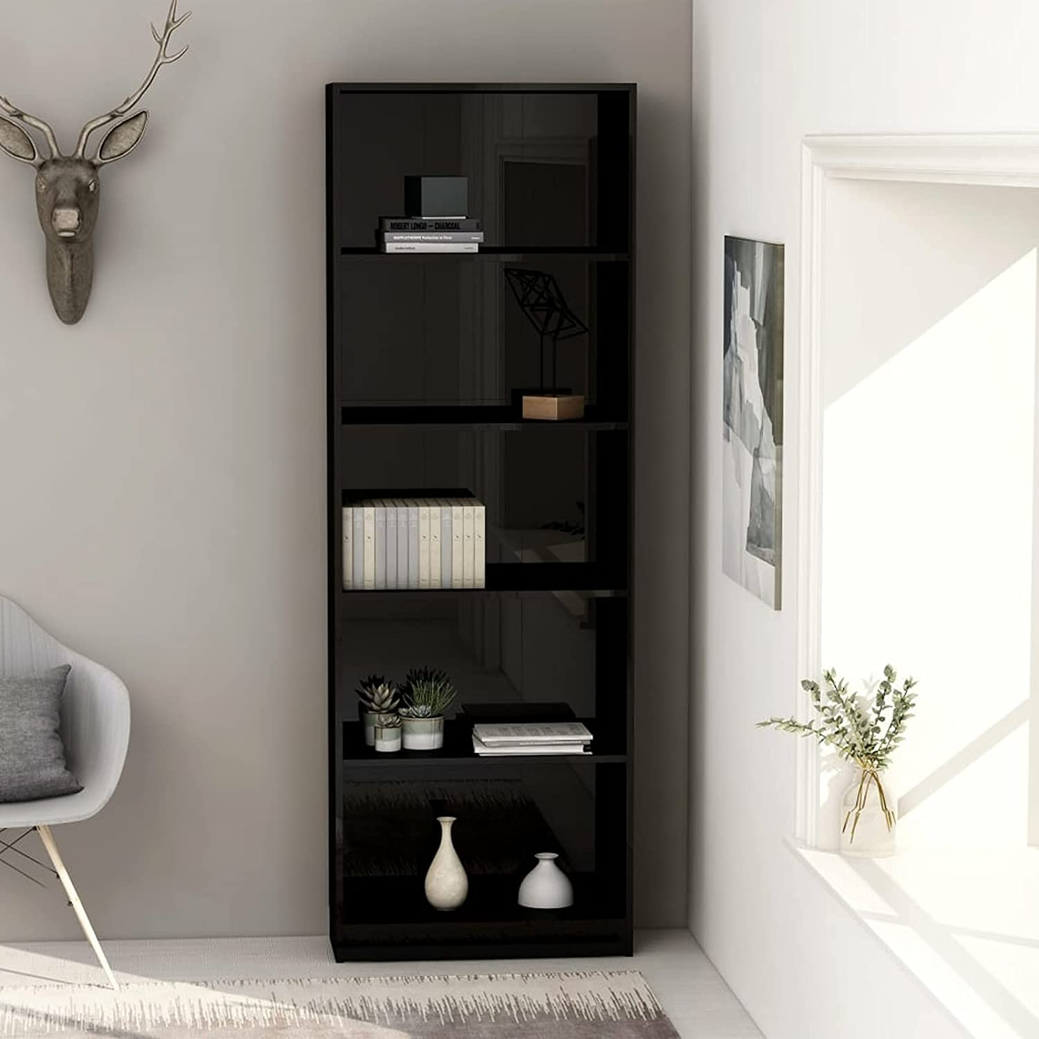 Max 52% OFF Tidyard 5-Tier Complete Free Shipping Bookcase Chipboard Display Orga Cabinet Book Rack