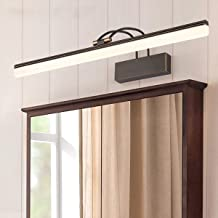LSRRYD Retro spiegellamp, LED-spiegellamp, neutraal wit, 4000 K, instelbare lampenkop, voor badkamer, make-uptafel, slaapk...