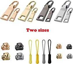 16 Pieces Zipper Replacement Universal Zipper Repair Parts to Fit Any Zipper(4 Color)