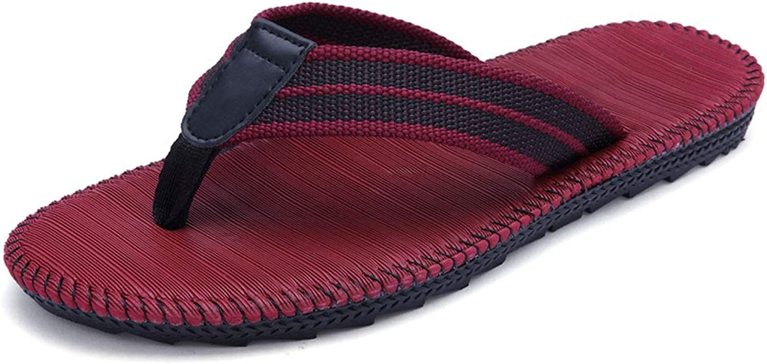 HUYP Beach shoes Flip-flops Ladies Summer Couples Men and Women Red Slippers (Size   36)