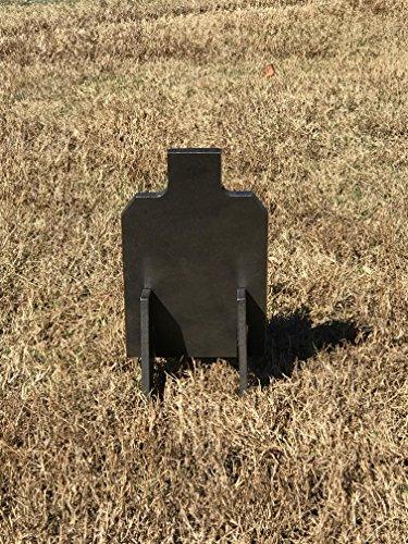Steel Shooting Targets 3/8' AR500 Hardened 7x12 IDPA w/Metal Ground Range Stand