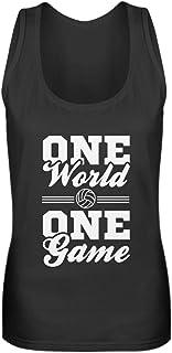 Divertida camiseta de voleibol retro vintage con frase en alemán – Camiseta deportiva para mujer