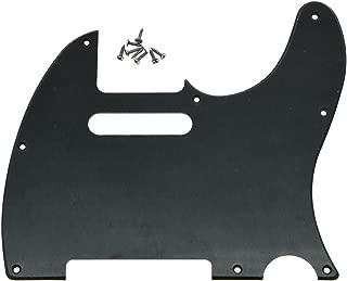 KAISH 8 Hole Tele Guitar Pickguard Scratch Plate fits USA/Mexican Fender Telecaster Matte Black 1 Ply