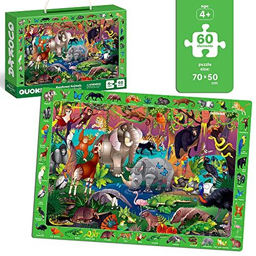 Quokka Niños Juguetes Rompecabezas Niño Niña Edad 8-10 - 60 Piezas Jigsaw Puzzles Niños Edad 5-8 - Aves y Animales diversión juegos educativos para niños de 8-12