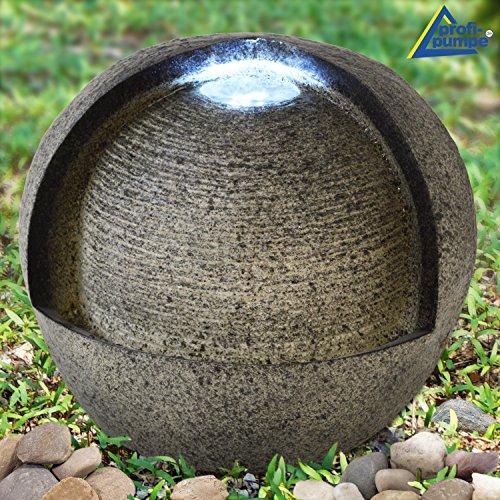 AMUR Fuente Decorativa - Fuente DE Interior y Exterior - Fuente para JARDÍN - Fuente EN Cascada 230/12V - Fuente Ornamental - Fuente de Jardin Fuente DE Vida - Fuente de Agua 230V con luz LED