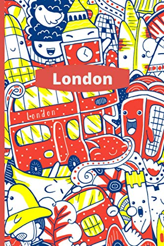 """London: Big Ben, Red Bus, Telephone Box Notebook - 120 lined pages (6\"""" x 9\"""") ideal gift for office, general or student use"""