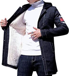 RkBaoye Mens Big and Tall Warm Velvet Long Sleeve Trucker Jacket
