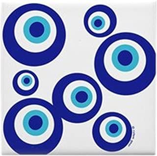 CafePress - Mod Evil Eyes Tile Coaster - Tile Coaster, Drink Coaster, Small Trivet