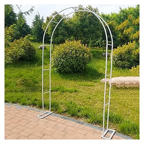 ETNLT-FCZ Arco para Jardín con Revestimiento En Polvo para Plantas Soporte Rosas Escalada Arco para Rosas Arco De Flores para Jardín Patio Terraza (Color : White, Size : 1.2x2.2m)