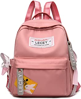 LOPDJSEG Women Fashion Canvas Backpack Waterproof Travel Slim Anti Theft Bag for College Student Women Men (pink)