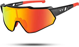 AALK Polarized Cycling Glasses Safety Goggles Sports Sunglasses for Men Women