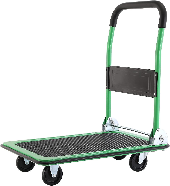 Pirecart Moving Platform Hand Truck Push Dolly Cart Over item handling ☆ Special sale item Foldable R