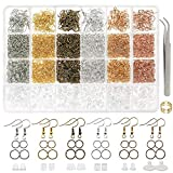 DICOBD 3700pcs Earring Making Supplies Kit with 6 Colors Earring Hooks, Jump Rings, Earring Post Earrings...
