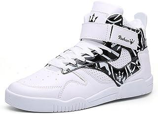 MUOU Scarpe da Uomo Sneakers Casual Sportive High-Top Scarpe Sneaker Bianche Scarpe Piatte Comode