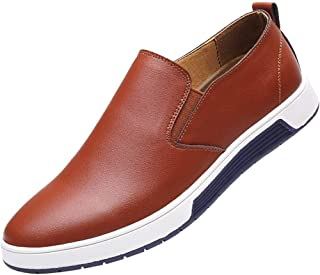 Men's Casual Slip On Faux Leather Dress Loafers Business Style Walking Driving Sneakers Flat Shoes by Lowprofile