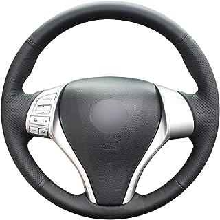 Shining bl/é Cuir Noir Volant de Voiture Housse de Protection pour Toyota Prius 30/ 2015/Prius C Prius V Aqua 2014/2015 Xw30 2009