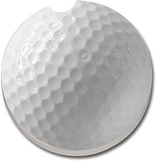 CounterArt Absorbent Stoneware Car Coaster, Golf Ball