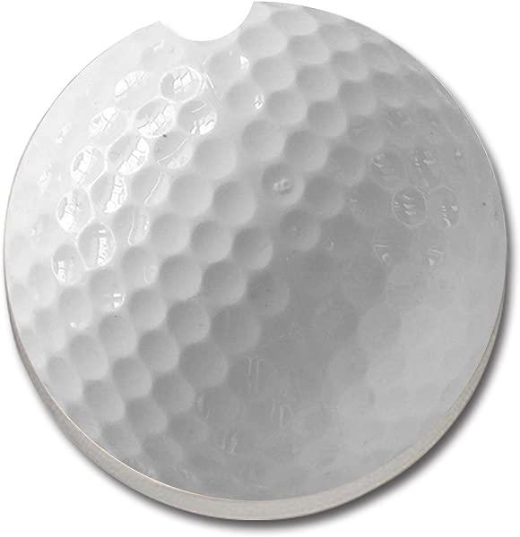 CounterArt Absorbent Stoneware Car Coaster Golf Ball