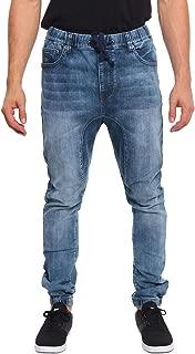 Mens Drop Crotch Jogger Denim Pants JG803