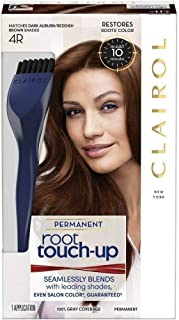 Clairol Nice 'n Easy Permanent Root Touch-Up, 4R Dark Auburn/Reddish Brown 1 Kit (Pack of 4)