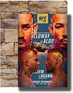 Xiongda Art Poster Ufc 218 Holloway vs.Aldo 2 Fighting Card Mma Canvas Impresión de pared sobre lienzo-20X30 pulgadas Sin marco