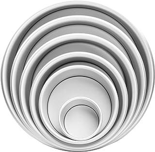 6PCS Set Aluminum Round Cake Pans with Removable Bottom, Premium Cake Pan Set, Leak proof, Cake Mold Perfect for Birthday ...