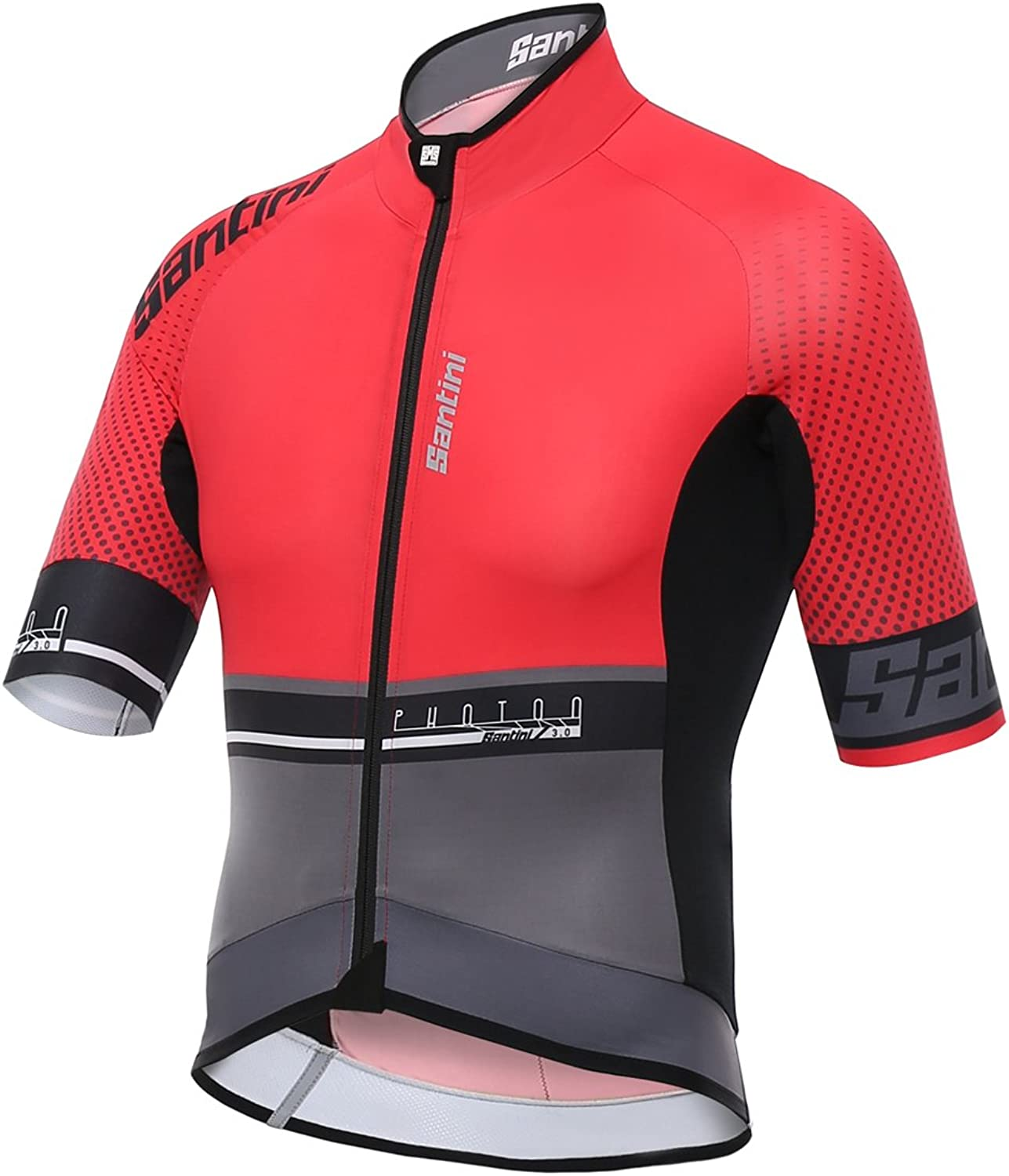 Santini Red 2017 Photon 3.0 Short Sleeved Cycling Jersey