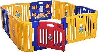 Sandinrayli Baby Playpen Kids 8+4 Panel Safety Play Center Yard Home Indoor Outdoor Fence