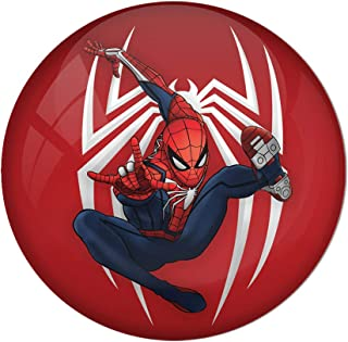 AVI Fridge Magnet with Red Colour Spiderman with Spider Background Metal Regular Size 58mm MR8000208