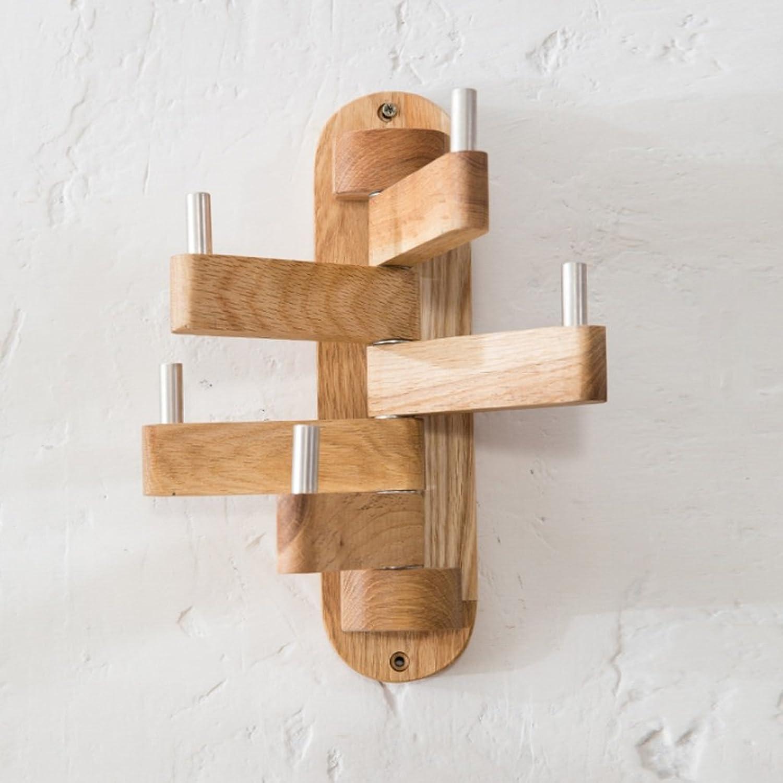 Solid Wood Swivel Hanger, Simple Bedroom Coat Hanger Hooks, Wall Hanging, Coat Racks, Hanging Hangers