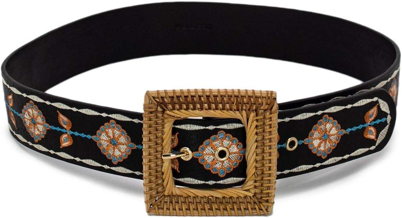 Desigual Women's 19SARP15BLK Black Faux Leather Belt