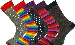 5 pares de calcetines de hombre Extra fino de algodón peinado sin costura