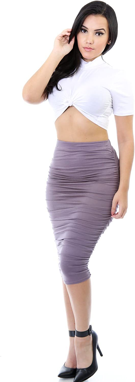 GITI ONLINE Pencil Drape Skirt