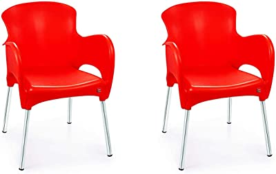Cello Xylo Chair Set Pack of 2 - Red
