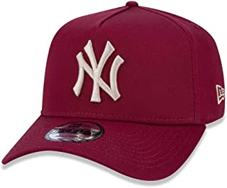9cd30cb2112 BONE 940 NEW YORK YANKEES MLB ABA CURVA SNAPBACK VERMELHO ESCURO NEW ERA