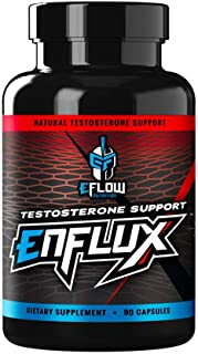 eFlow Nutrition Enflux Natural Testosterone Support with KSM-66 Ashwagandha - Supplement to Support Lean Body Mass for Men...