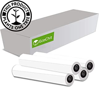 "EcoChit CAD Paper Rolls, 24"" x 150', 92 Bright, 20lb - 4 Rolls Per Carton - Ink Jet Bond Rolls with 2"