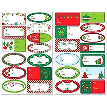 Assorted Adhesive Labels, 156 Ct.   Christmas Gift Tags