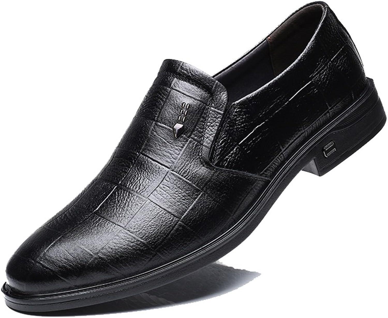 Männer Schuhe, Herrenschuhe Leder Frühling Herbst Formelle Business Arbeitsschuhe Slip On Spitz Schwarz, Braun Britischen Stil,Schuhe B07J213ZFF  Guter weltweiter Ruf