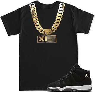 FTD Apparel Men's Gold Chain XI23 Retro 11 Heiress Black Stingray T Shirt