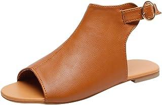 ASERTYL shoes Sandalias Informales con Hebilla al Tobillo y Puntera Abierta para Mujer