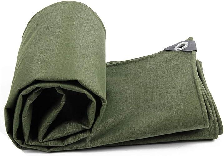 ZHANGGUOHUA épaissir la bache imperméable de Toile de Prougeection Solaire d'isolation d'ombre de Toile de Tissu extérieur en Plein air (Couleur   vert, Taille   3x5m)