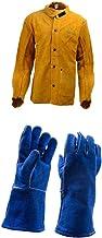 Almencla Capa de Traje de Soldagem Capa de Proteção de Soldagem para Corpo E Braços - Xl jaqueta de soldagem e luvas