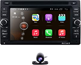 Backup Camera + Best WiFi Android 9.0 Quad-Core 6.2 Inch Touch-Screen Universal Car DVD CD Player GPS Double 2 din Stereo GPS Navigation Free Map