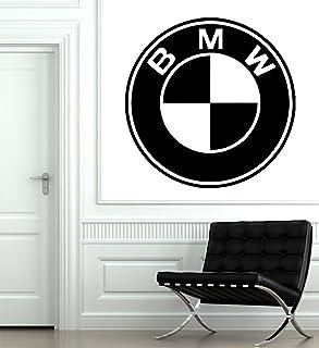 BMW Logo 3D DOOR WRAP Decal Wall Sticker Home Decor Mural Art D239