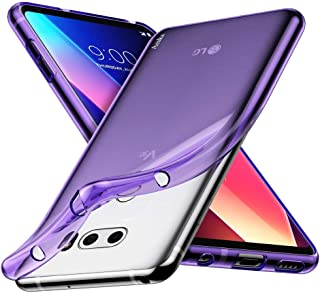 LG V30 / LG V30S / LG V30 Plus/LG V30S ThinQ/LG V35 / LG V35 ThinQ Case, Aeska Ultra [Slim Thin] Flexible TPU Gel Rubber S...