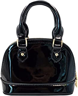 Women's Patent Leather Dome Satchel Handbag Tote Chinese Bride Bag